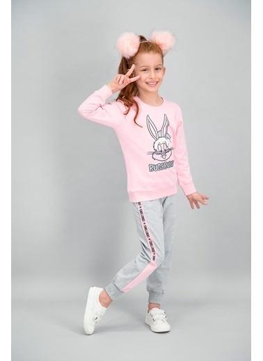 Bugs Bunny Bugs Bunny Lisanslı Açık Pembe Kız Çocuk Eşofman Takımı Pembe